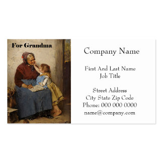 Grandparent's Day Grandma Granddaughter Painting Double-Sided Standard Business Cards (Pack Of 100)