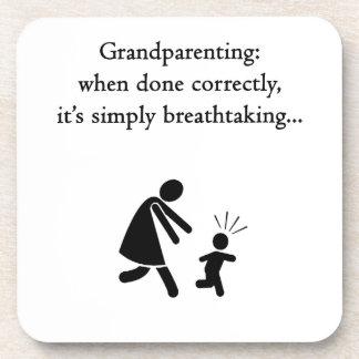 Grandparenting is Breathtaking Beverage Coaster