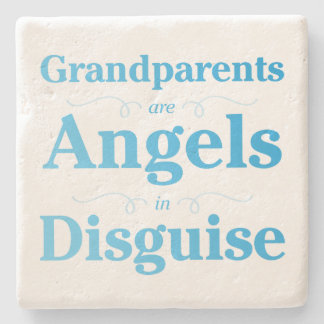 Grandparents are Angels in Disguise Stone Coaster