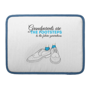 Grandparents are the footsteps to the future gener fundas para macbooks