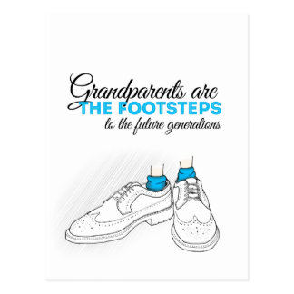 Grandparents are the footsteps to the future gener postal