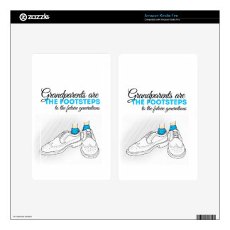 Grandparents are the footsteps to the future gener pegatinas skins para kindle fire