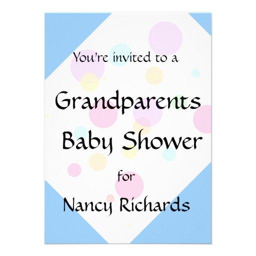 Grandparents Baby Shower Invitation - Boy Baby