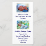 """Grandparents Birth Announcements Baby Birth<br><div class=""""desc"""">Grandparents Baby Announcement Grandson Birth Card Announcement Nicholas Birth Cards. New Baby. Parenthood poem on back Sacred Heart Eugene Oregon. Our Little Guy. Bookmark this site for great gift ideas all year! GETTING A GIFT? COMBINE several products. Greeting Cards, Stamps, Postage Stamps, Postcards, Tote Bags, Aprons, Mugs, Mousepads, Keychains, Stickers,...</div>"""