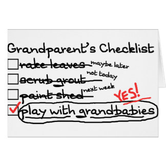 Grandparents' Checklist Greeting Cards