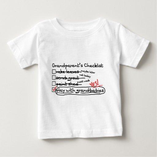 Grandparents' Checklist T Shirt
