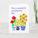 Grandparents Day Card - Flower Power card
