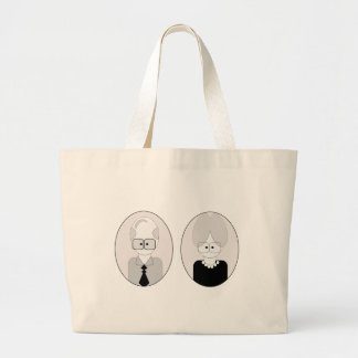 Grandparents Day - Couple Large Tote Bag