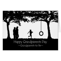 Grandparents Day for Grandparents to Be, Swing Card