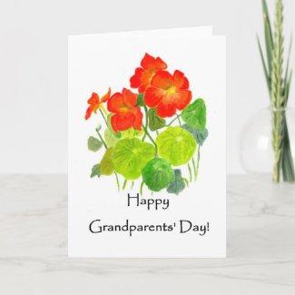 Grandparents' Day Nasturtium Greeting Card card