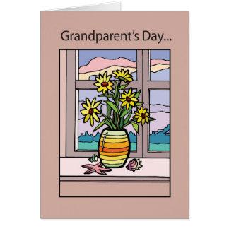 Grandparent's Day Vase in Window Card