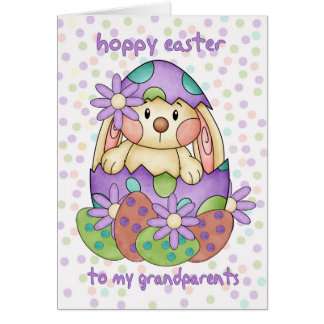 Grandparents Easter Card With Easter Bunny - Greet