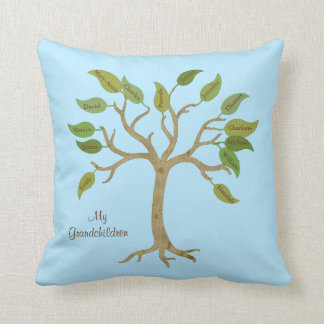 Grandparent's Family Tree Pillow