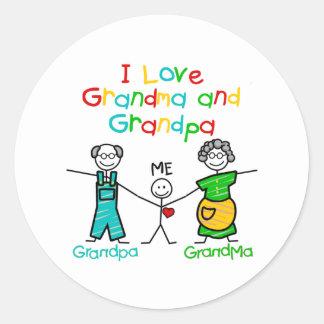 Grandparents Gift Classic Round Sticker