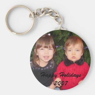 Grandparent's Gifts Basic Round Button Keychain