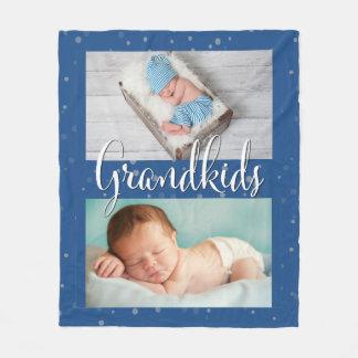 Grandparents Grandkids Customized Fleece Blanket