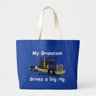 Grandparents: grandson trucker - canvas bag