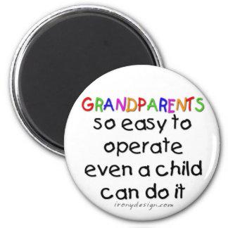 Grandparents Love 2 Inch Round Magnet