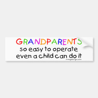 Grandparents Love Bumper Sticker