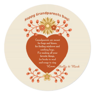 Grandparents' Love Grandparents Day Card Personalized Invite