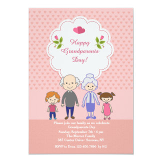 Grandparents' Love Is Endless 5x7 Paper Invitation Card