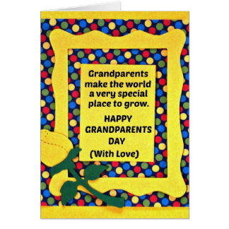 Grandparents make the world a special place... greeting card