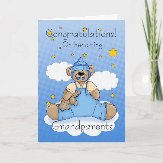 grandparents new baby boy congratulations card zazzle com