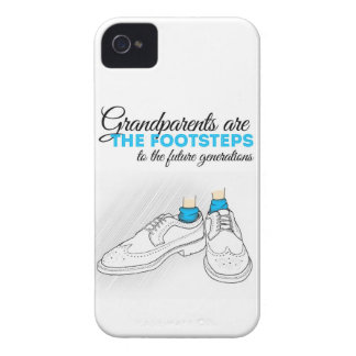Grandparents plows the footsteps to the future to  iPhone 4 Case-Mate case