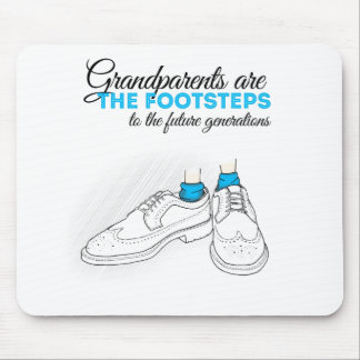 Grandparents plows the footsteps to the future to mouse pad