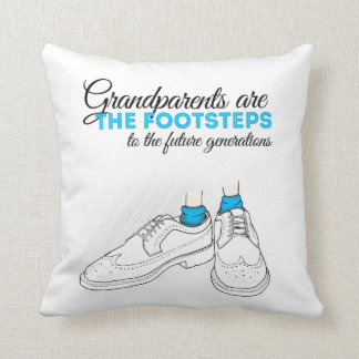 Grandparents plows the footsteps to the future to throw pillow