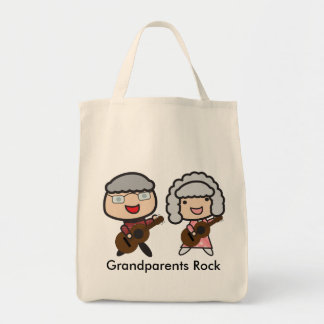 Grandparents Rock Personalize Tote Bag