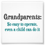 Grandparents So Easy To Operate Art Photo