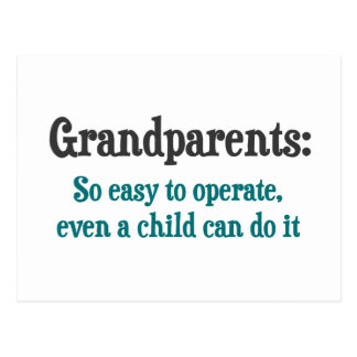 Grandparents So Easy To Operate Postcard