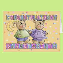 Grandparents To New Baby Twins Congratulations Card