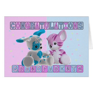 Grandparents To Twins Congratulations Card