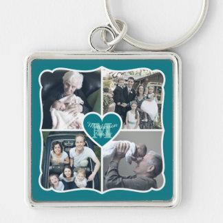 Grandparents Valentine Personalized Instagram Grid Keychain