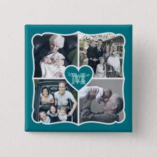 Grandparents Valentine Personalized Instagram Grid Pinback Button