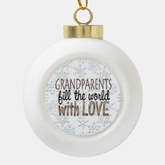 Grandparents Word art Holiday ornament