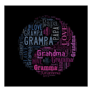 Grandparents Yin and Yang Symbol II Poster