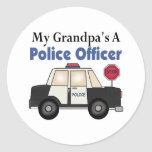Grandpa's A Police Officer Classic Round Sticker