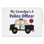 Grandpa's A Police Officer Greeting Card