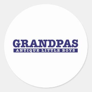 Grandpas are Antique little boys Classic Round Sticker