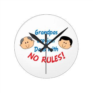 Grandpas Are Dads Round Clock