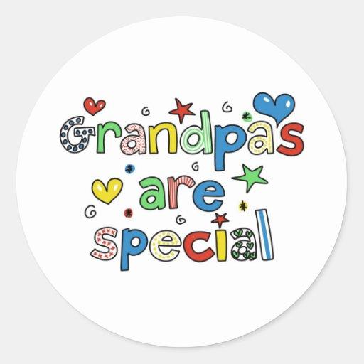 Grandpas are Special Classic Round Sticker