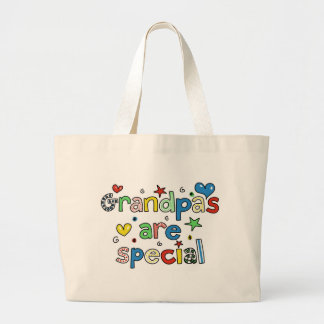 Grandpas are Special Large Tote Bag