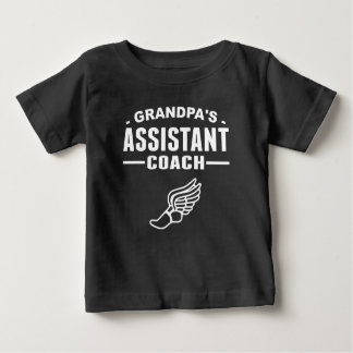 Grandpa's Assistant Track Coach Baby T-Shirt