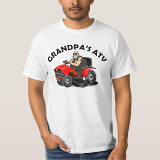 grandpa's atv, funny cartoon lawnmowers, grandpa T-Shirt