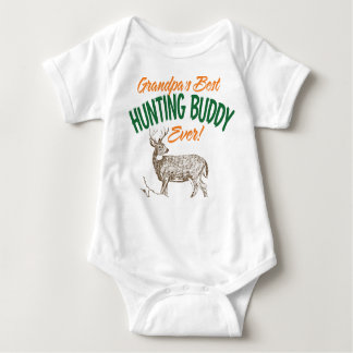 Grandpa's Best Hunting Buddy Ever Baby Bodysuit