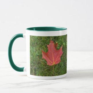 Grandpa's Birthday-red maple leaf Mug