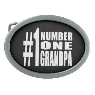 Grandpas Birthdays & Christmas Number One Grandpa Oval Belt Buckle